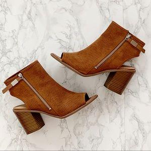 Sam Edelman Ankle Boots Bootie Stacked Heel Sz 10